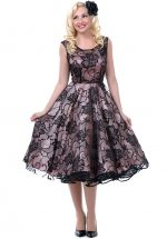 Astrid Pink & Black Lux Lace Dress