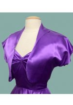 Bolero Purple Satin