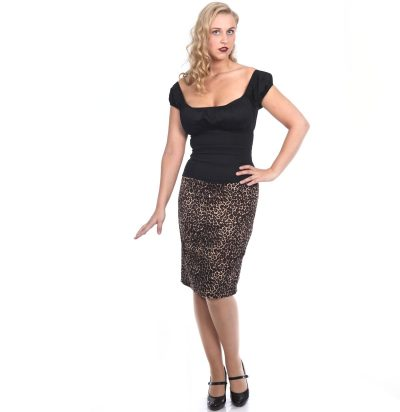 Pencil Skirt, Leopard