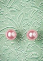 50s Dainty Pearl Earrings in Pale Pink