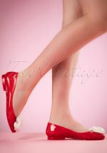 60s Pennies From Heaven Flats in Red