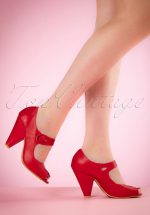 40s Shelly Pumps in Red
