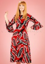 70s Luck Be A Lady Midi Dress in Red