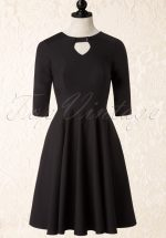 50s Diamond Swing Dress in Black