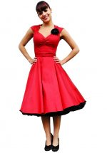 Heidi Dress, Red Sateen