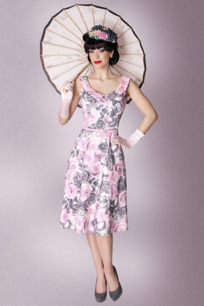 New Style Veronica Dress, Pink/Grey