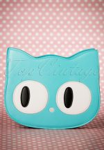 60s Addis The Big Eyed Cat Bag in Turquoise