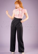 40s Melissa Trousers in Black
