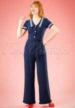 50s Ambleside Jumpsuit in Navy