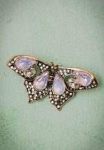 30s Mystic Butterfly Brooch in Light Pink