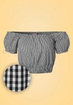 50s All Mine Gingham Top in Black