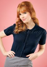 40s Carly Cardigan in Navy