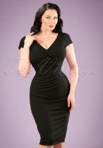 50s Brenda Pencil Dress in Black