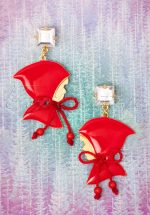 50s Little Red Riding Hood Earrings in Gold Plated