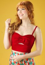 50s Ariel Top in Red