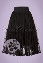 50s First Sight Skirt in Black