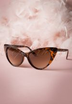 50s Fenella Cat Eye Sunglasses Tortoise zonnebril