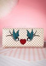 50s Now or Never Polka Purse in Cream