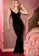 30s Laura Byrnes Gilda Gown in Black Velvet