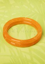 TopVintage Exclusive ~ 20s Muriel Carved Bangles Set in Butterscotch