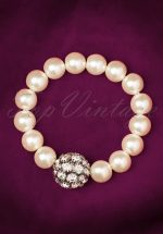 50s Glitter and Glamour Pearl Bracelet