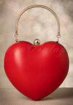 50s Lou Heart Bag in Lipstick Red