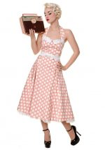 Jurk Sweetheart, Peach Polka Dot