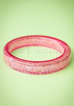 TopVintage Exclusive ~ 20s Fedora Midi Glitter Bangle in Pale Pink