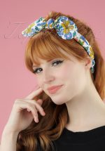 50s Return To Paradise Hummingbirds Bandana in White