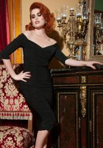 50s Monica Dress in Black from Laura Byrnes Black Label
