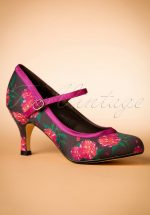 50s Mary Jane Camelias Pumps in Black
