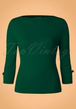 50s Addicted Sweater in Forest Green