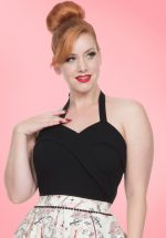 50s Ronnie Halter Top in Black