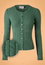 40s Dream On Cardigan in Vintage Green