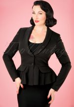40s Meryl Suit Jacket in Black