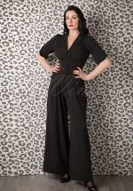 40s Gigi Jumpsuit in Black