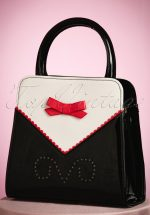 50s Helium Handbag in Black and Cream