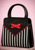 50s Helium Handbag in Black Stripes