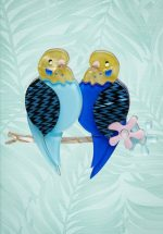 TopVintage exclusive ~ 60s Best Budgies Brooch