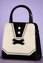 50s Rosemary's Handbag in Black and Cream