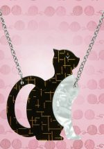 TopVintage Exclusive ~ 60s Purrfectly Content Cat Necklace