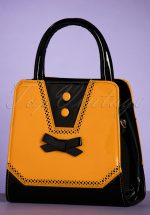50s Rosemary's Handbag in Black and Mustard