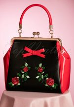 50s Fantasy Handbag in Red and Black