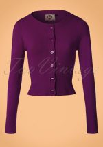 50s Dolly Cardigan in Aubergine