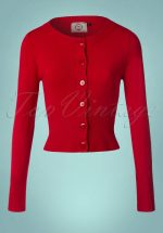50s Dolly Cardigan in Bright Red
