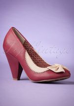 50s Bailey Pumps in Burgundy