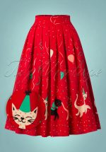 50s Freedom Skirt in Red