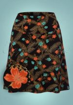 60s Silvester Borderskirt in Black