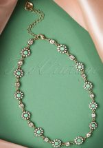 20s Grace Flower Necklace in Pacific Opal