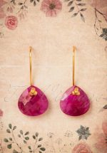 60s Ruby Lucky One Earrings in Gold